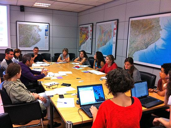 Sessió de treball entre tots els centres, setembre de 2012.